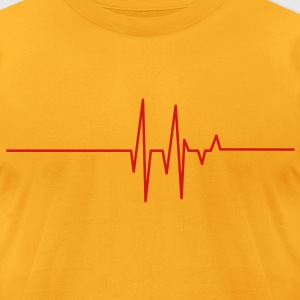 heart beat line T-Shirts - Men's T-Shirt by American Apparel