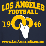 Design ~ Los Angeles Football Sweatshirt (Navy Blue)