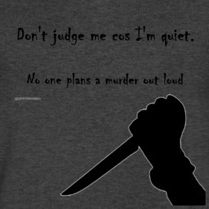 Murderer Tee - Men's V-Neck T-Shirt by Canvas