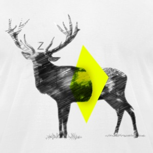 Cut Out Deer - Men's T-Shirt by American Apparel