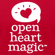 Design ~ Classic Red Open Heart Magic Tshirt (Mens)