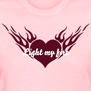 Fire Heart 1_1c Women's T-Shirts - Women's T-Shirt