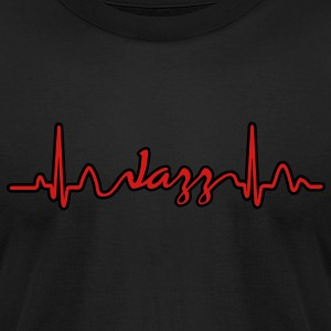Lines of Heart electrocardiogram heart pulse Jazz T-Shirts - Men's T-Shirt by American Apparel