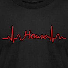Lines of Heart House Music electrocardiogram heart pulse T-Shirts