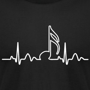 Lines of Heart, heart, pulse 1 / 16 note for musicians clock dancers clubbers. T-Shirts - Men's T-Shirt by American Apparel