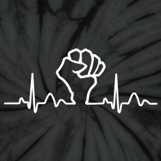 Lines of Heart Fist electrocardiogram heart pulse T-Shirts