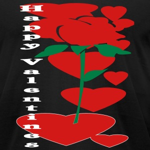 valentine_rose3 T-Shirts - Men's T-Shirt by American Apparel
