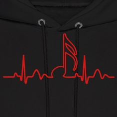 Lines of Heart, heart, pulse 1 / 16 note for musicians clock dancers clubbers. Hoodies