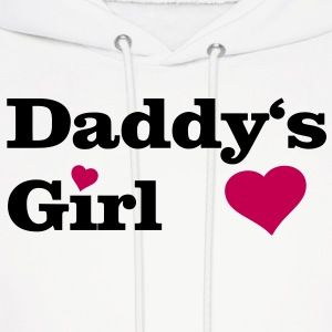 Daddy's Girl I Love Dad daddy i heart Hoodies - Men's Hoodie