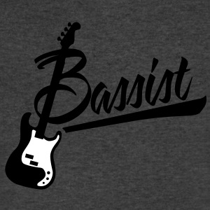 bassist T-Shirts - Men's V-Neck T-Shirt by Canvas