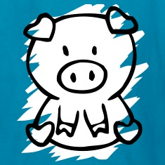 cute pig Kids' Shirts