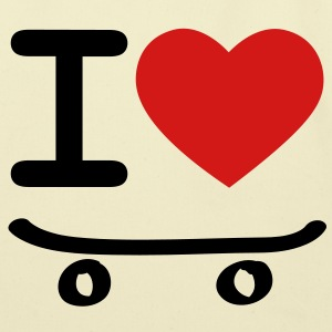 I love skateboard skater grinding sliding skateboarding sport Bags  - Eco-Friendly Cotton Tote