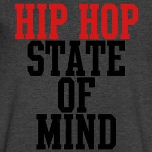 Hip Hop State of Mind T-Shirts - Men's V-Neck T-Shirt by Canvas