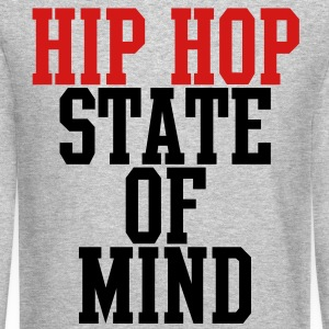 Hip Hop State of Mind Long Sleeve Shirts - Crewneck Sweatshirt