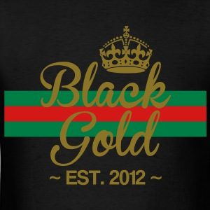 Black Gold Striped  T-Shirts - Men's T-Shirt