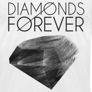 Diamonds Forever - Men's T-Shirt by American Apparel