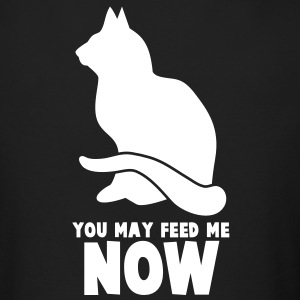 RUDE CAT saying  YOU MAY FEED ME NOW! Long Sleeve Shirts - Men's Long Sleeve T-Shirt by Next Level