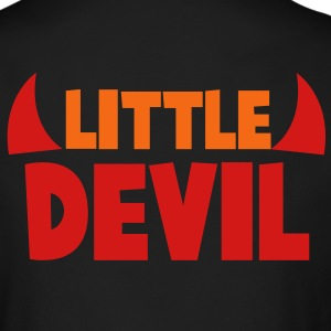 little devil with devilish horns in red Long Sleeve Shirts - Men's Long Sleeve T-Shirt by Next Level