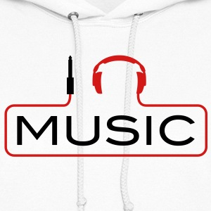 I love music plug headphones sound bass beat catch cable music i love techno minimal house club dance dj discjockey electronic electro Hoodies - Women's Hoodie