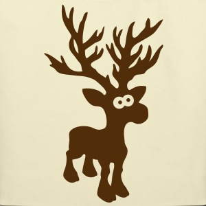 moose caribou reindeer deer christmas rudolph rudolf winter horns antlers deer head Bags  - Eco-Friendly Cotton Tote