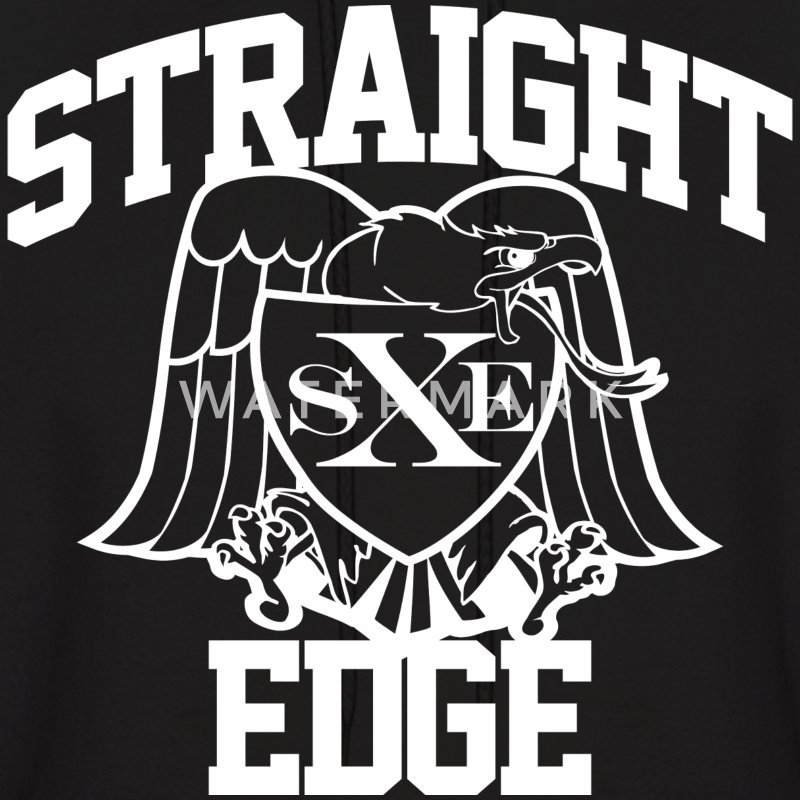 Straight Edge - Men's Hoodie