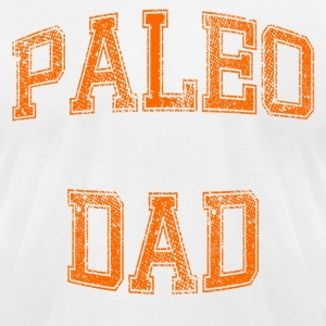 Paleo Dad Men's T-Shirt (Orange Logo) - Men's T-Shirt by American Apparel