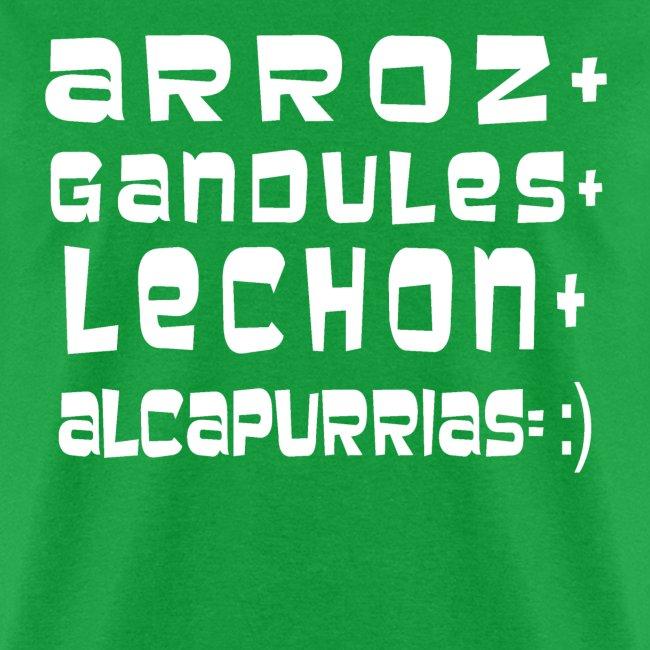 ARROZ+ GANDULES+ LECHON+ ALCAPURRIAS= :) HOMBRE