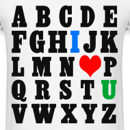 Design ~ ABCDE, I ♥ U (Black)