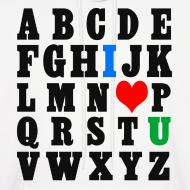 Design ~ ABCDE, I ♥ U (Black)