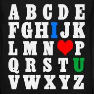 Design ~ ABCDE, I ♥ U (White)