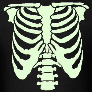 A Human rib cage great for Halloween events and sc - Men's T-Shirt