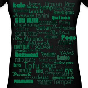 protein vegan ladies v-neck tee - Women's V-Neck T-Shirt
