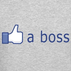 Facebook Like (a boss) Long Sleeve Shirts