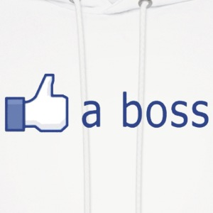 Facebook Like (a boss) Hoodies - Men's Hoodie