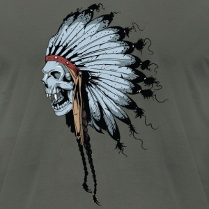 Indian Ghost Skull - Men's T-Shirt by American Apparel