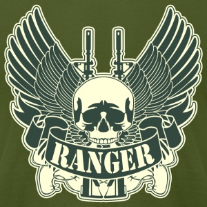 Army Ranger Skull - Men's T-Shirt by American Apparel