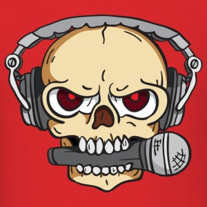 DJ Skull with Headphones - Men's T-Shirt