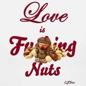 Lady's V - Love is F'ing Nuts - front only - Women's V-Neck T-Shirt