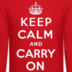 Keep Calm And Carry On Long Sleeve Shirts - stayflyclothing.com