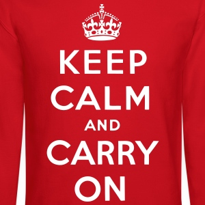 Keep Calm And Carry On Long Sleeve Shirts - stayflyclothing.com  - Crewneck Sweatshirt