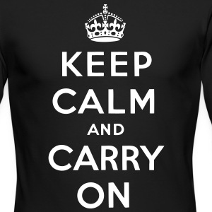 Keep Calm And Carry On Long Sleeve Shirts - stayflyclothing.com  - Men's Long Sleeve T-Shirt by Next Level