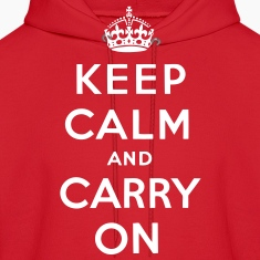 Keep Calm And Carry On Hoodies - stayflyclothing.com