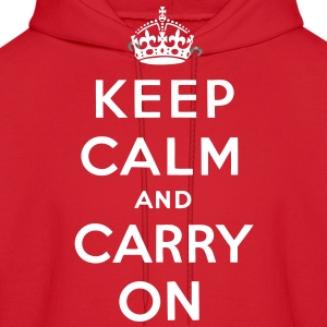 Keep Calm And Carry On Hoodies - stayflyclothing.com - Men's Hoodie