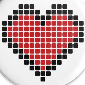 Pixel Heart Buttons - Large Buttons