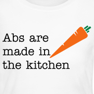 Design ~ Abs Are Made In The Kitchen Fitspiration Long Sleeve Fitted Tshirt