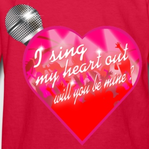 I sing my heart out will you be mine valentine Mic Kids' Shirts - Kids' Long Sleeve T-Shirt