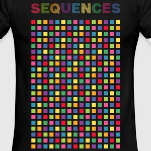 Pixelated Colors Screen, Sequences - Men's Ringer T-Shirt