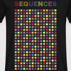 Rhythm Colorful, Sequential graphic - Men's V-Neck T-Shirt by Canvas
