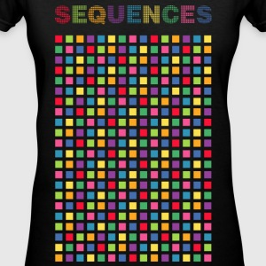 Electronic light cubes rhythm of Sequences - Women's V-Neck T-Shirt