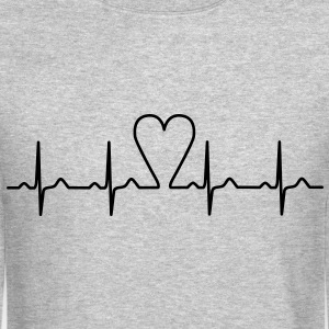 heartbeat Long Sleeve Shirts - Crewneck Sweatshirt
